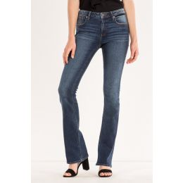 Miss Me Dark Blue The Simple Things Mid-Rise Boot Cut Womens Jeans M1001B136