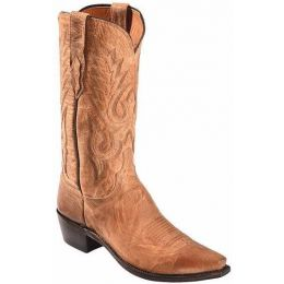 M1008.74 Tan Mad Dog Goat Lewis Lucchese Mens Western Boots