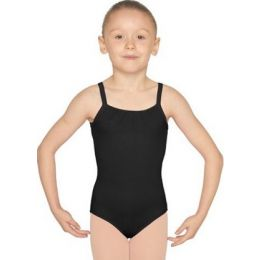 Mirella Black Pintuck Childrens Leotard M1223C