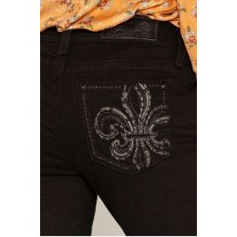 Miss Me Black Living In Paradise WOmens Skinny Jeans M3439S