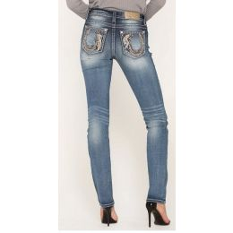 Miss Me Medium Wash Womens Lucky Feather Skinny Jeans M3452T