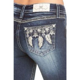 Miss Me Jeans Dark Wash Feather Dream Women's Skinny Jeans M3467S