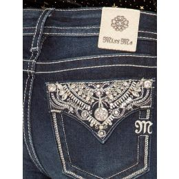 Miss Me Chole Embellished Live Bright Bootcut Womens Jeans M3493B