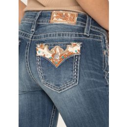 Miss Me Western Haven Bootcut Jeans M3509B