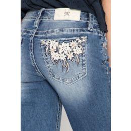 Miss Me Floral Passion Slim Bootcut Jeans M3524SB