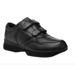 Propet Velcro Walker Black Leather Mens Casual M3705BX
