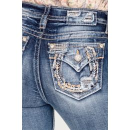Miss Me Shape Of You Womens BootCut Jeans M3735B