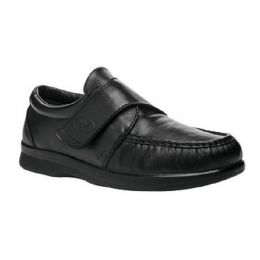 Propet Pucker Moc Velcro Black Leather Mens Casual M3925-BLK