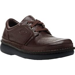 Propet Village Walker Brown Leather Mens Casual M4070-Brown