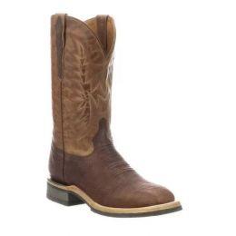 Lucchese Chocolate/Peanut Rudy Mens Horseman Barn Work Boots M4090.WF