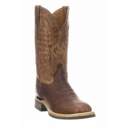 Lucchese Chocolate/Peanut Rudy Mens Western Boots M4090.WF