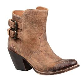 Lucchese Catalina Brown Floral Womens Western Booties M4953