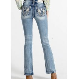 Miss Me Sparkled Wind Bootcut Jeans M5082B106