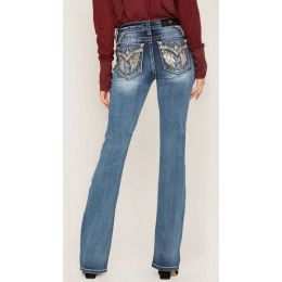 Miss Me Jeans Medium Wash Women's Roll With Me Bootcut Jeans M5082B87