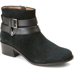 Vionic Black Mana Womens Comfort Short Boots