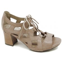 Bussola Taupe Mandy Comfort Open Toe Bootie Style Womens Sandals MANDY-TAUP