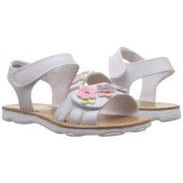 Rachel Mariah Velcro Kids Open Toe Sandals MARIAH-WHT