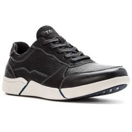 Propet Black Landon Mens Casual Shoes MCV022L