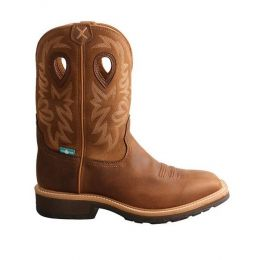 Twisted X Brown Mens Western Work Boots MCWW002