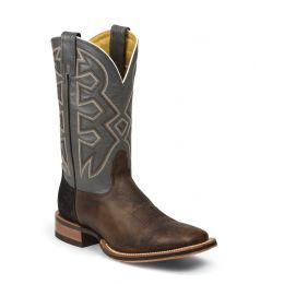 MD5303 Men's Tan with Grey Top Double Welt Square Toe Western Boots