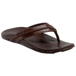 Olukai Mea Ola Dr Java Leather Mens Sandal 10138-4848
