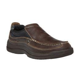 Propet Hugh Slip On Brown Leather Mens Casual MF016-BRN