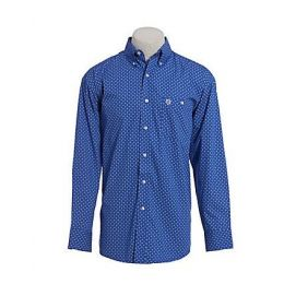 Wrangler Royal Blue George Strait Long Sleeve Mens Shirt MGSB691
