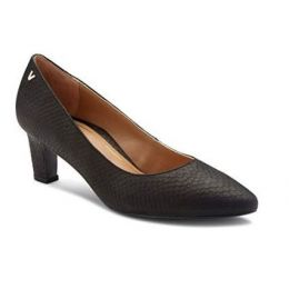 Vionic Mia Women's Black Snake Pumps with Concealed Orthotic Support MIA