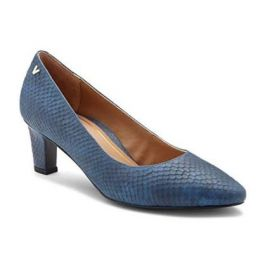 Vionic Mia Blue Snake Women's Pumps with Concealed Orthotic Support MIA