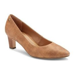 Vionic Mia Brown Snake Women's Pumps with Concealed Orthotic Support MIA
