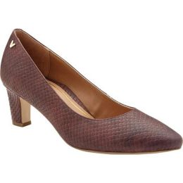 Vionic Merlot Snake Leather Mia Womens Dress Pump