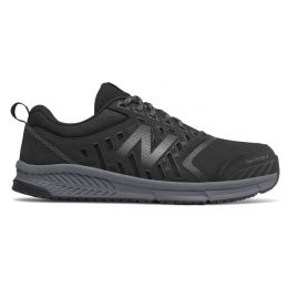 New Balance Black with Silver Alloy Toe Mens Comfort Work Shoes MID412B1