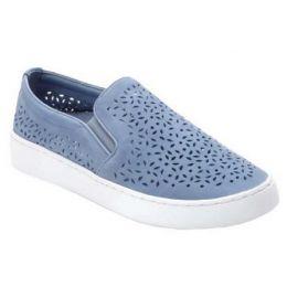 Vionic Women's Light Blue Midi Perf Casual Slip-On Shoe
