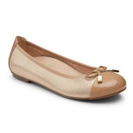 Vionic Women's Champagne Minna Ballet Comfort Flat MINNA