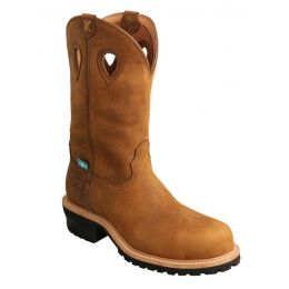 Twisted X Men's Brown Distressed Saddle Logger Boot MLGCW01