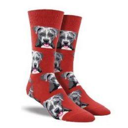 SockSmith Red Men's Pit Bull Socks MNC1547