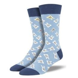 SockSmith Men's Blue Happy Teeth Socks MNC1844