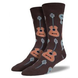 SockSmith Brown Mens Guitar Socks MNC202-BRO