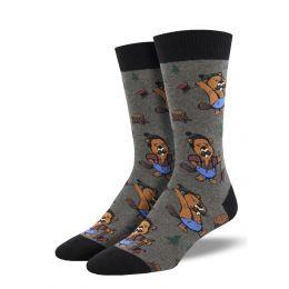 SockSmith Men's Knotty Beaver Socks MNC2093