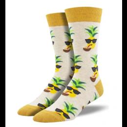Socksmith Gold Aloha Pineapple Mens Socks MNC2240-HIV
