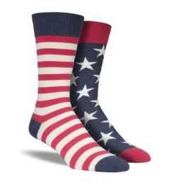 SockSmith Vintage Red White and Blue Mens Flag Socks MNC337