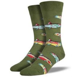 SockSmith Green Mens Trout Socks MNC408
