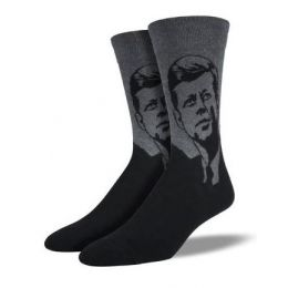 SockSmith Black Mens JFK Socks MNC418