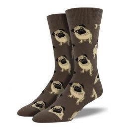 SockSmith Brown Mens Pugs Socks MNC609