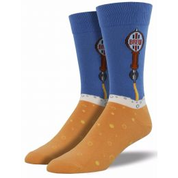 SockSmith Blue Mens Beer Taps Socks MNC610-FOG