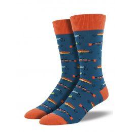 SockSmith Steel Blue Mens Just Fishin' Socks MNC661-STB