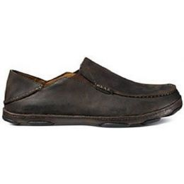 Olukai Moloa Slip On Dark Java Leather Mens Casual 10128-6348