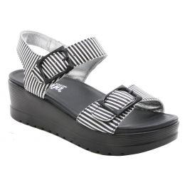 Alegria Morgyn Stripes Womens Comfort Wedge Sandals MOR-879