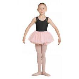 Mirella by Bloch Light Pink Girls Velvet Bow Tutu Skirt MS136C