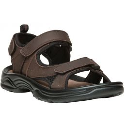 Propet Daytona Brown Leather Mens Sandals MSV013L-BRN